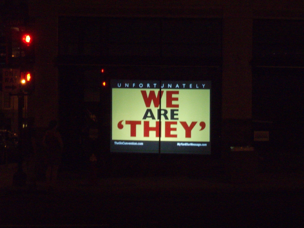 "My Yard Our Message, ""We Are They"""