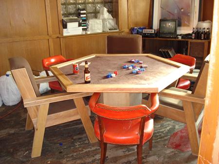 hand-built poker table, 2008