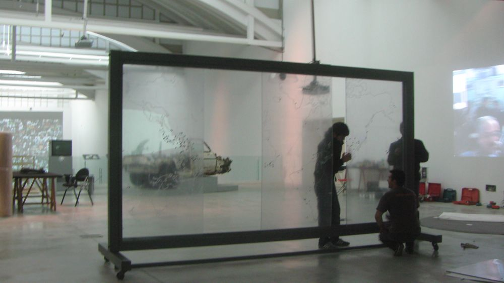 """Hasan Elahi's """"Instances of Use of United States Armed Forces Abroad, 1798-2006"""" with Fluxa's """"Car project, excavating XX century´s end"""""""