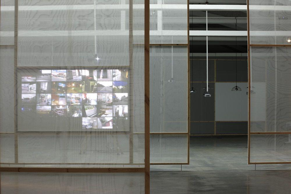 Hasan Elahi (projection). Photo courtesy LABoral.