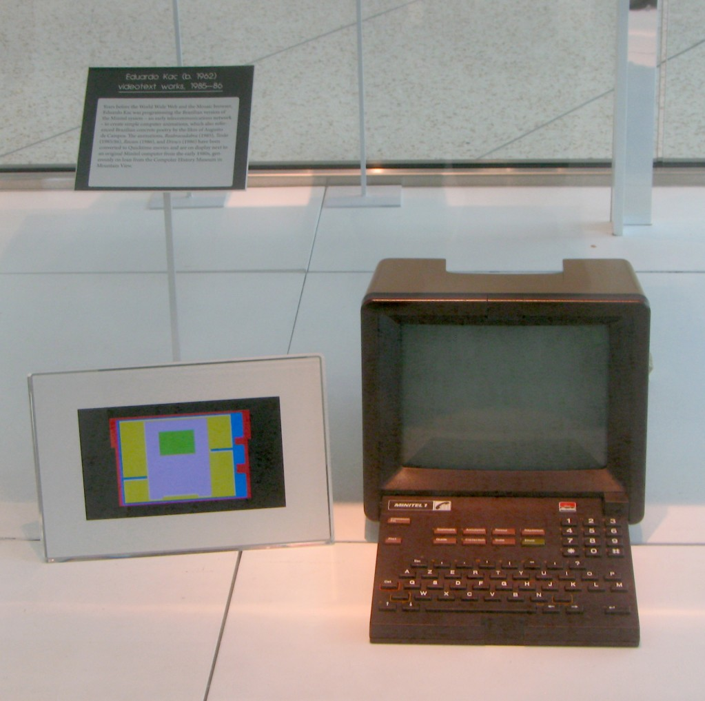 Eduardo Kac, videotext works, 1985-86