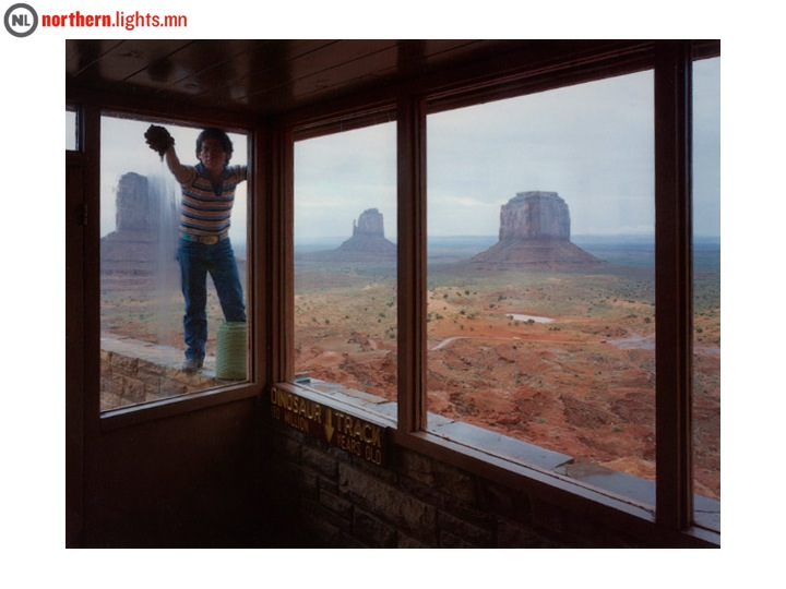 "<b>Skeet McAuley</b>, ""Navajo window washer, Monument Valley Tribal Park, Arizona,"" 1984, Sign Language"