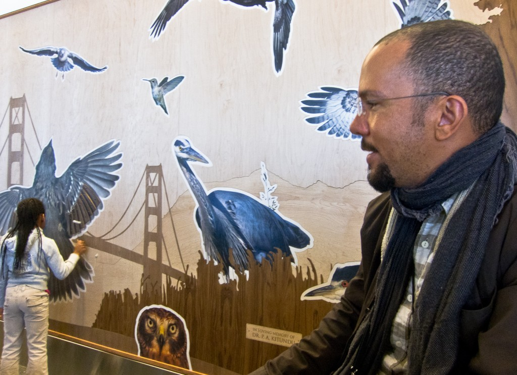 His piece Bay Area Bird Encounters is dedicated to his father