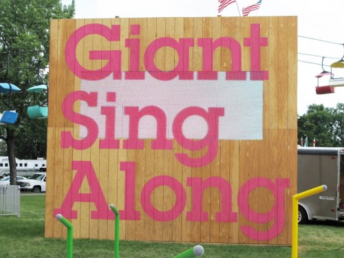 Mouna Andraos and Melissa Mongiat, Giant Sing Along, MN State Fair, 2011