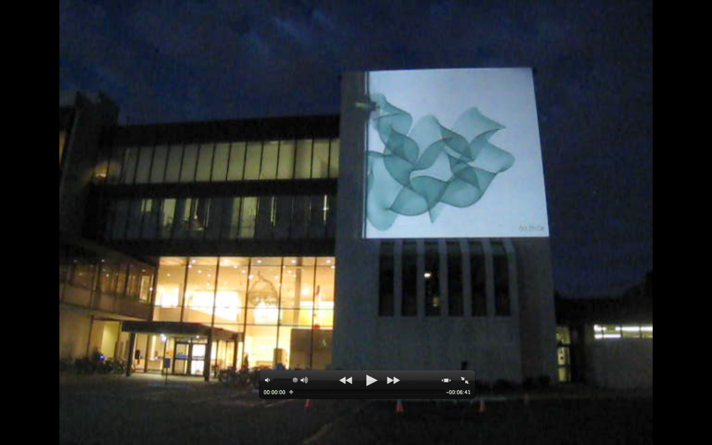 8.5 hour drawing projected at Minneapolis College of Art and Design. Photo courtesy the artist.