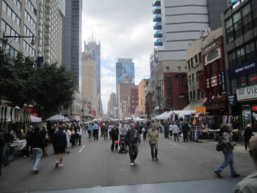 View south down 8th Avenue, September 18, 2011