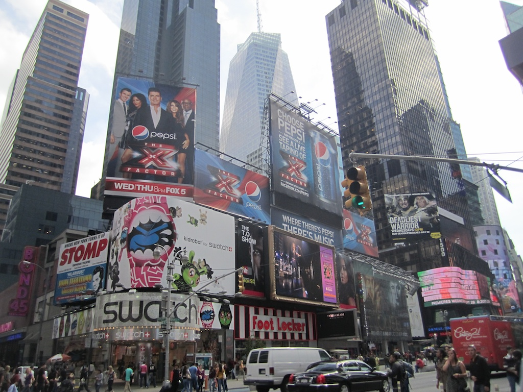 Times Square screens