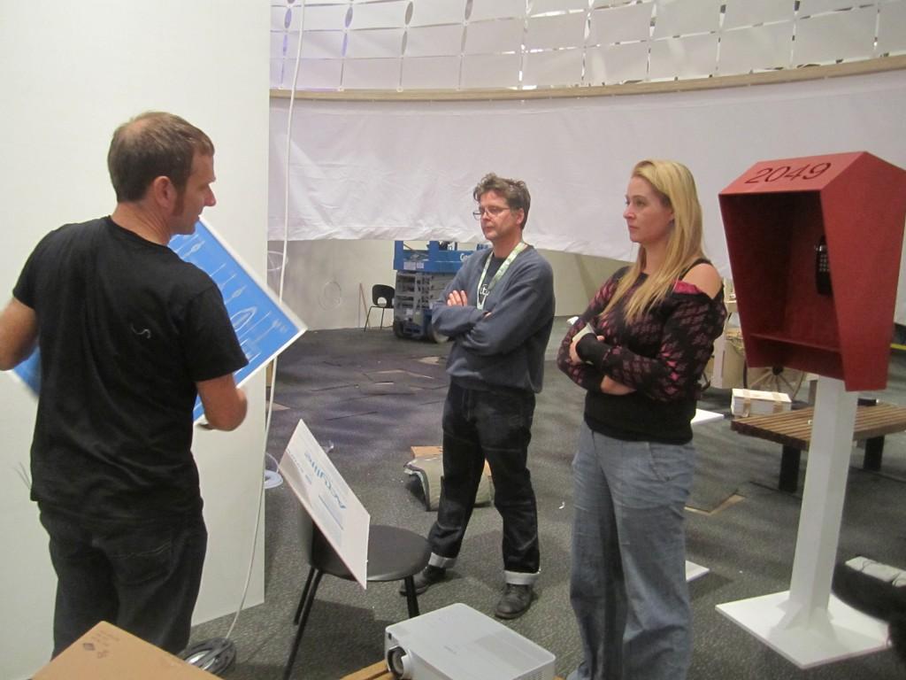 Scott Kildall with Michael Cosaboom and Amanda Parkes