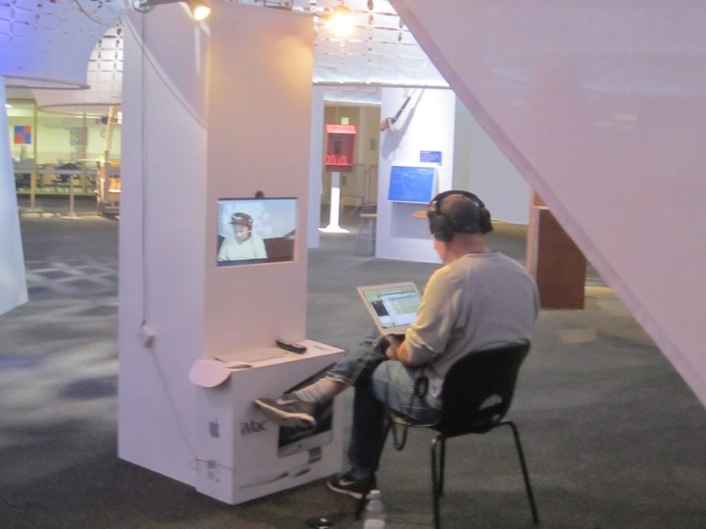 Zach Lieberman installing Face by Face