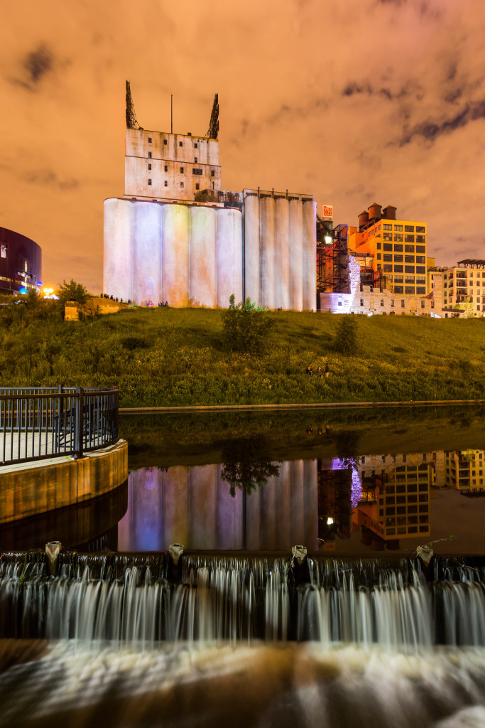 Luke Savisky, E/x MN, Mill Ruins Park and Gold Medal Silos, Northern Spark 2015. Photo: Ian Plant.