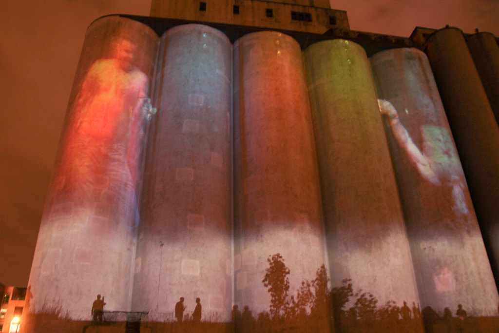 Luke Savisky, E/x MN, Mill Ruins Park and Gold Medal Silos, Northern Spark 2015. Photo: Nathan Santos.
