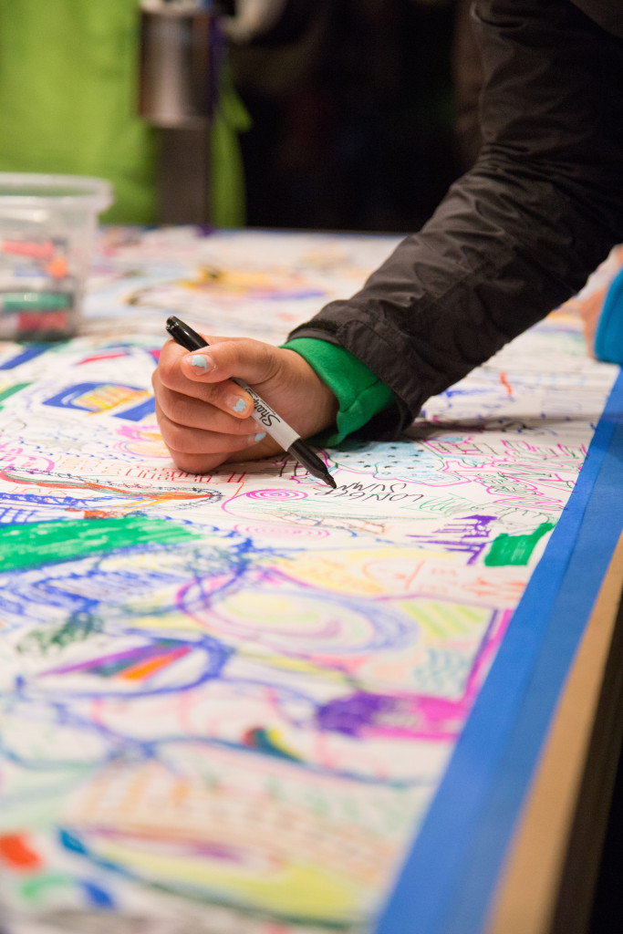 MakeSh!t, Public Acts of Drawing, Convention Center Plaza, Northern Spark 2014. Photo: Wendy Schreier.