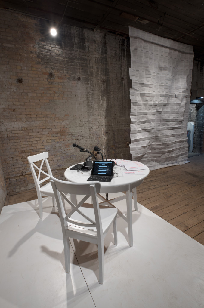 Molly Balcom Raleigh, Personal Statement, AOV6. Installation view, the Soap Factory. Photo: Rik Sferra