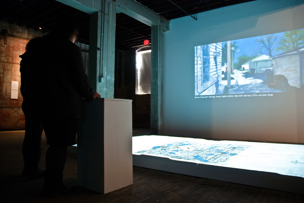 Installation view: The Soap Factory. Photo credit: Sarah Nienaber.