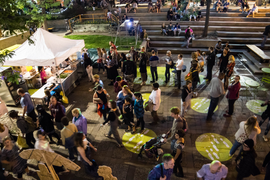 Eddo Stern, Vietnam Romance, Peavey Plaza, Northern Spark 2015. Photo: Shawn Orton.