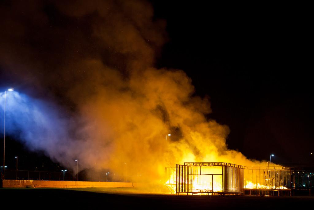 Chris Larson, Celebration/Love/Loss, Union Depot, Northern Spark 2013. Photo: Dusty Hoskovec.