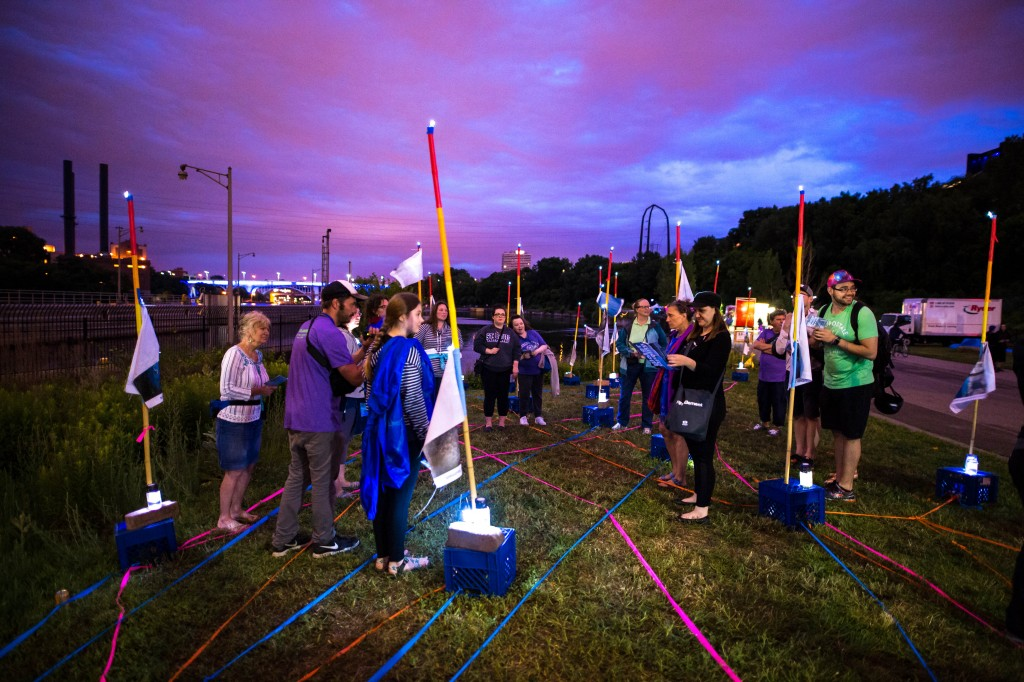 Plotform, Water Quality Sing-Along, Mill Ruins Park, Northern Spark 2016. Photo: Max Haynes.