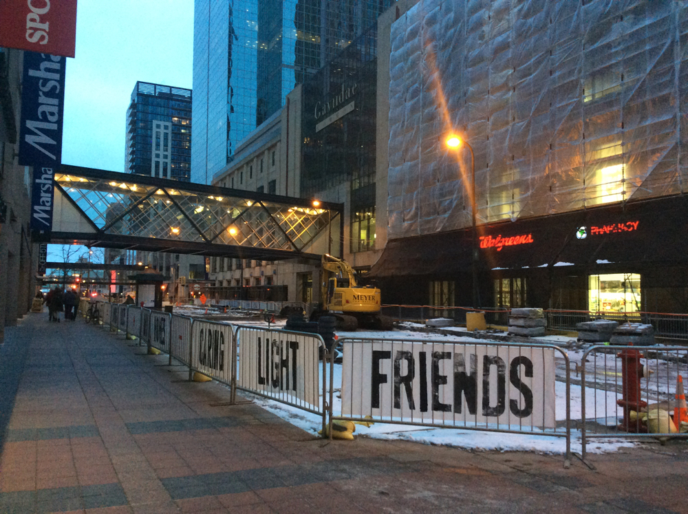Living Banners, installation view, Nicollet Mall