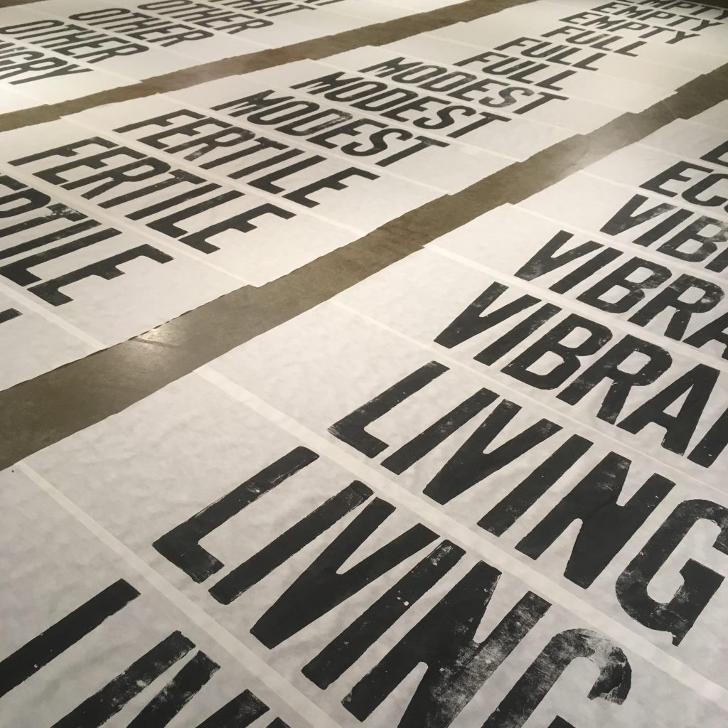 Living Banners adjectives and nouns printed in sets of 3