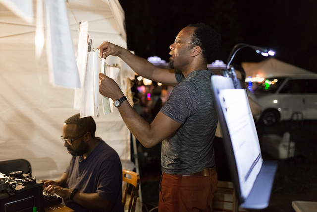 Clarence White, Green Line Poet, Little Mekong, Northern Spark 2017. Photo: Anna Min of Min Enterprises Photography, LLC.